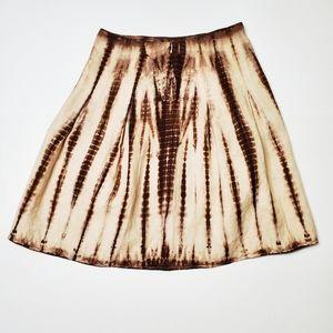 Michael Kors Linen Tie Dye Skirt Size 12